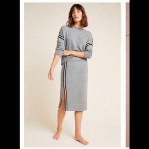 Anthropologie Sundry side striped Aleksa skirt